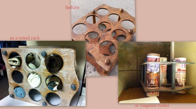 wine rack collage