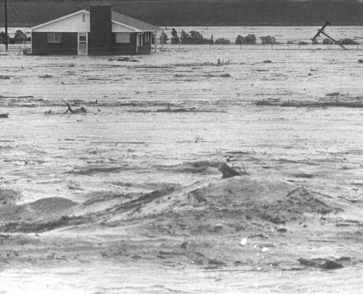 Rushing water of the South Platte River in 1965